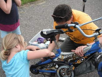 junior bike mechanics in the making